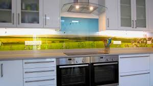 extra long british countryside printed glass splashbackcontemporary kitchen london
