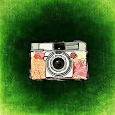Znalezione obrazy dla zapytania aparat fotograficzny rysunek