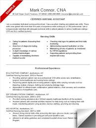 Cna Resume Example Gorgeous Sample Of Cna Resume Funfpandroidco