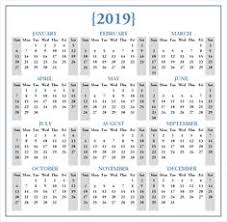 Calendar 2019 Printable With Holidays 31 Best Monthly Calendar Templates Images In 2019