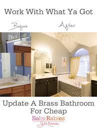 Painting Bathroom Fixtures Baby Rabies Low Budget Brass Bathroom Update