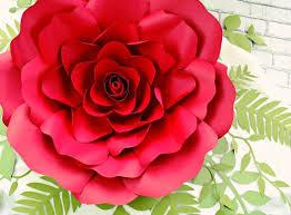 Diy Giant Paper Rose Flower Giant Paper Rose Flowers Paper Rose Flower Wall Printable Rose Templates Diy Paper Flowers Wedding Backdrop Reception Decor