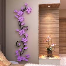 3d vase tree love heart crystal arcylic wall stickers decal home room decor diy