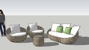 akai round modern outdoor set modern