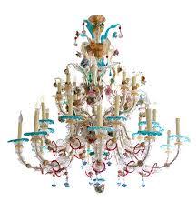 antique venetian murano glass chandelier