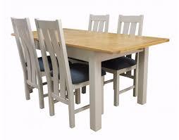 base station devon painted oak dining table extending 1400 1800
