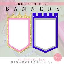 Is buying a cricut worth it? Free Svg Cut File Royal Princess Prince Banner Gina C Creates