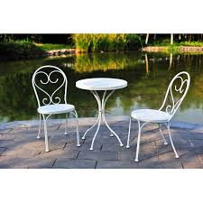 mainstays 3 piece small space scroll outdoor bistro set seats 2 com