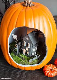haunted house diorama pumpkindioramatutorial pumpkin diorama haunted house