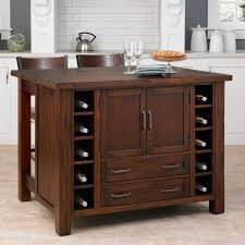 Kitchen Wine Rack Small Wooden Kitchen Island Cart With Breakfast Bar And Wine Rack