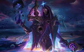 Dark Cosmic Jhin Splash Art LoL 4K ...