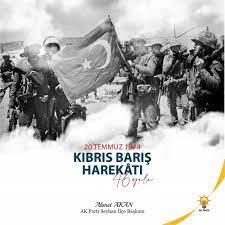 """Ahmet AKAN on Twitter: """"Kıbrıs Barış Harekâtı'nın 46.yıl dönümü vesilesiyle  Kuzey Kıbrıs Türk Cumhuriyeti'nin 20 Temmuz Barış ve Özgürlük Bayramı'nı  kutluyor, bu büyük zaferde hayatını kaybeden Şehitlerimizi rahmetle,  Gazilerimizi saygıyla anıyoruz ..."""