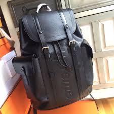supreme x louis vuitton epi leather christopher pm backpack black men s fashion bags wallets backpacks on carou