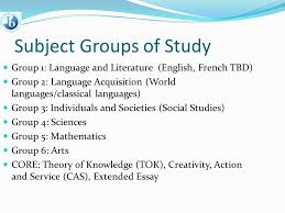 the full ib diploma program of study for students in grades  3 subject