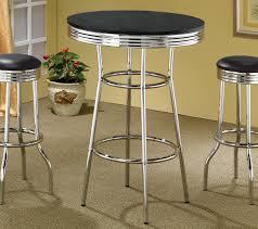 black  chrome finish bar table  caravana furniture