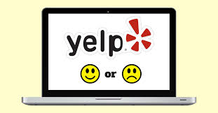 yelp review button. Modren Review The Yelp Advertising Program On A Laptop Screen And Yelp Review Button
