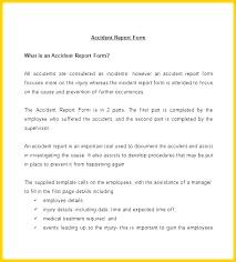 Workplace Injury Report Template Buildbreaklearn Co
