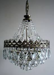 french crystal chandelier antique vintage french basket style brass crystals chandelier lamp 1940 french crystal chandelier french crystal chandelier