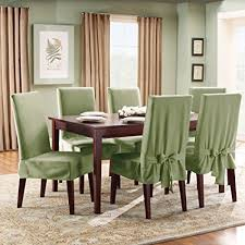 dining room chairs slipcovers. Plain Slipcovers Sure Fit SF33073 Cotton Duck Fabric Short Dining Room Chair Slipcover Sage For Chairs Slipcovers