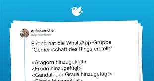 Herr Der Ringe Whatsapp Gruppe Twitterperlen