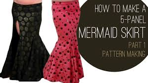 Mermaid Dress Pattern Custom How To Make A Mermaid Skirt Part 48 Pattern Making SPARKLY BELLY