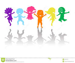 Group Of Color Kids Jumping Stock Vector Image 48731613