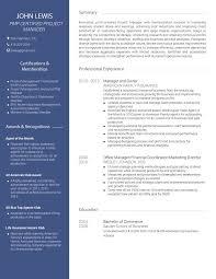 Avant Professional Cv Template Visualcv
