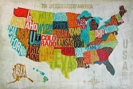 united states map decor modern united states map wall art usa regarding usa map wall art