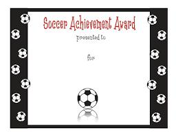 Achievement Awards Templates Soccer Achievement Award Certificate