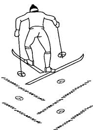 Виды ходов на лыжах для уроков по лыжной подготовке подъем полуелочкой При подъеме елочкой