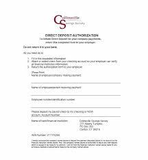 Employee Direct Deposit Authorization Agreement 47 Direct Deposit Authorization Form Templates Template