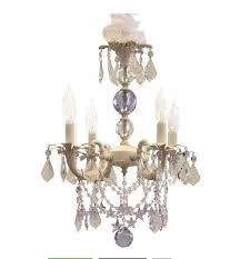 shabby chic cottage style mini chandelier sugar plum