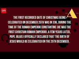 How Did Christmas Start Being Celebrated? - YouTube