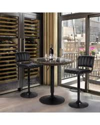 modern pub table. LCH Modern Pub Table Adjustable 360 Swivel Round Kitchen Bar With Glass ABS Rattan Top