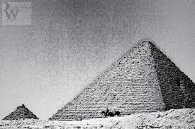 the pyramids of giza a photo essay giza pyramids travel tourism archaelogy horseman passes pyramids vintage black and white grainy the pyramids