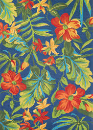 tropical outdoor rugs flower