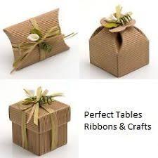 natural diy wedding party favour gift bo shabby chic vine corrugated kraft