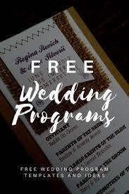 005 Free Printable Wedding Program Templates Template Ideas