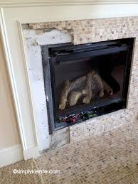 fireplace makeover using airstone remove tile around fireplace