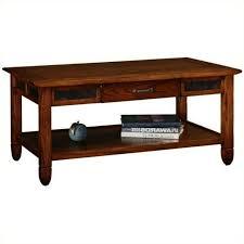 storage coffee table in rustic oak