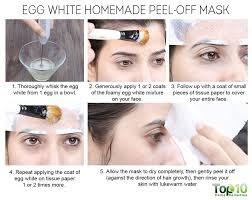 egg white homemade l off mask