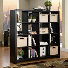 wooden bookcase furniture storage shelves shelving unit. Sofa Lovely Room Divider Shelves 14 Tall Black Wooden Bookcase With Cubices By Container Cool Bookshelf Furniture Storage Shelving Unit