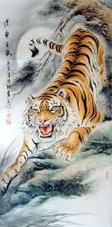 chinese tiger drawing. Plain Drawing Chinese Tiger Drawing  Photo1 On Tiger Drawing I