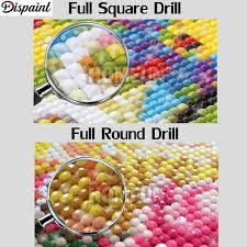 2019 <b>Dispaint Full Square/Round Drill</b> 5D DIY Diamond Painting ...