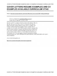 Cover Letters For A Resume Free Resume Example And Writing Download