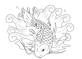Printable Coloring Pages color pages of fish : Koi Fish Coloring Pages - Bltidm