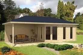 Gartenh User Mit Berdachter Terrasse Oder Veranda Kaufen