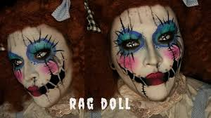 rag doll halloween costume makeup tutorial
