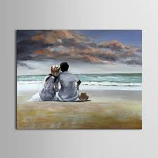 contemporary art love snuggling in modern canvas art painting wall hanging painting big abstract video piece 1 set beach white sand beach couple lovers back  on wall art lovers with luckydonkey rakuten global market contemporary art love snuggling