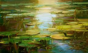 original art for at ugallery com water lilies summer pond by vahe yeremyan
